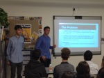 Owen L. and Benji M. make their pitch for Pythagoras Computing