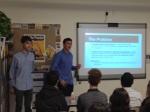 Owen L. and Benji M. make their pitch for Pythagoras Computing